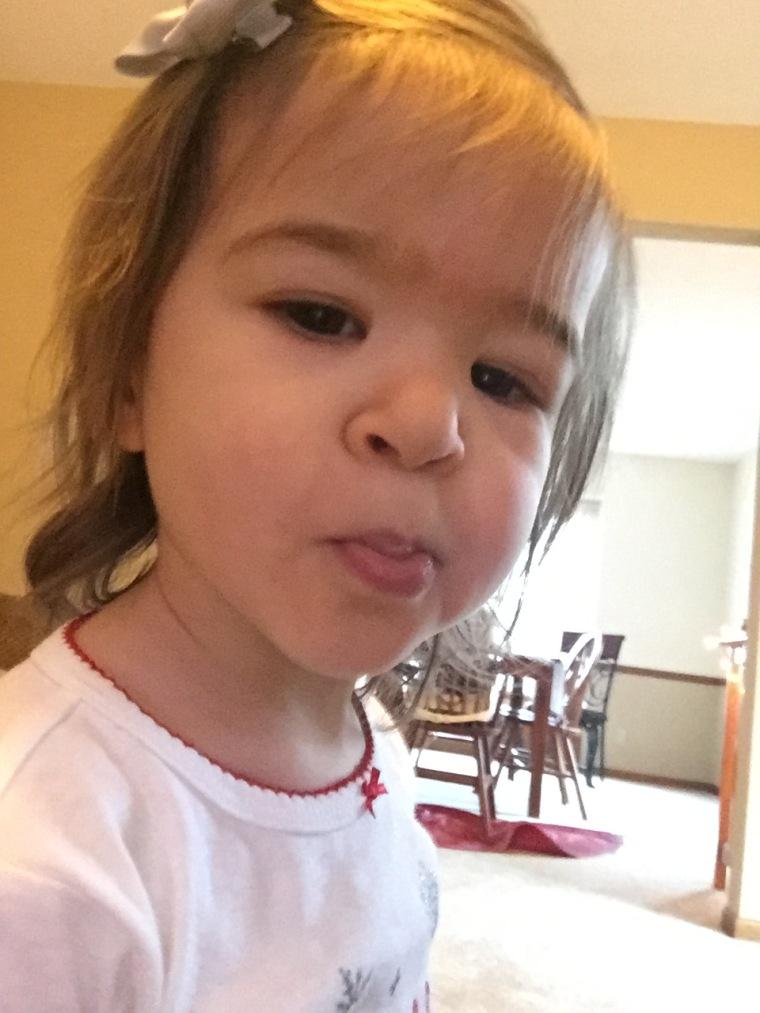 Toddler selfie
